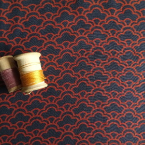 viscose couture art déco tissu bleu