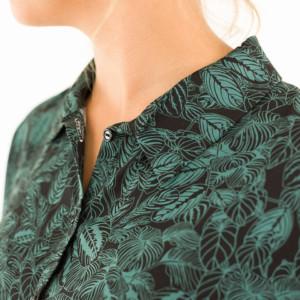 Cosy house plants Viscose tissu noir couture