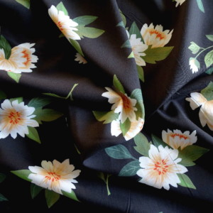 Viscose Spring Reverie Marron Tissu Couture