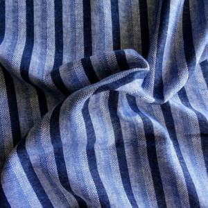 Lin Rayures Bleues