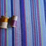 Viscose Rayures Lurex Tissu