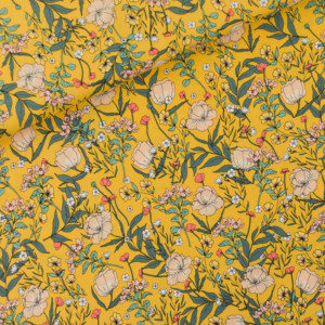 Summer Flowers Viscose Rayon Fleurs