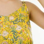 Summer Flowers Viscose Rayon Fleurs Jaune See You at Six Tissu